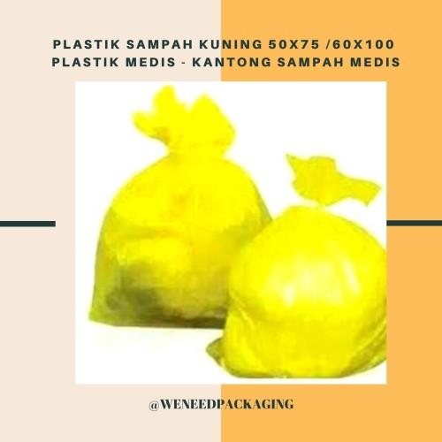 Foto Produk Plastik sampah Kuning 50x75 /60x100 cm / Plastik Medis - 50x75 cm dari weneedpackaging