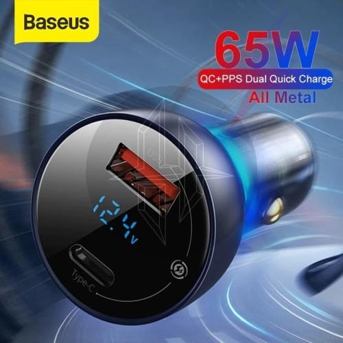 Foto Produk BASEUS CCKX-C0G Car Charger 65W Power Delivery PD Mobil Laptop PPS QC dari HimTech