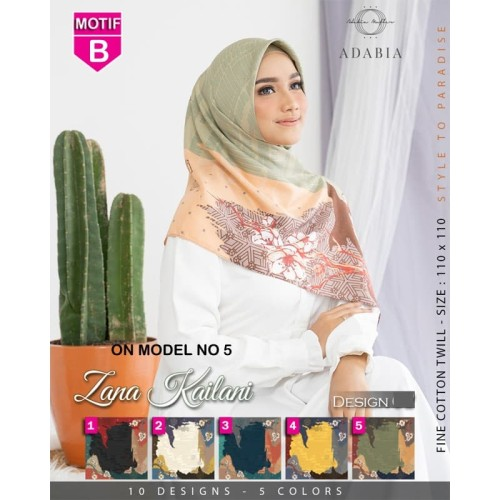 Foto Produk Jilbab Segiempat Zana Kailani B ADABIA MUFLER - Hijab Kerudung MOTIF dari Rr_Gallery