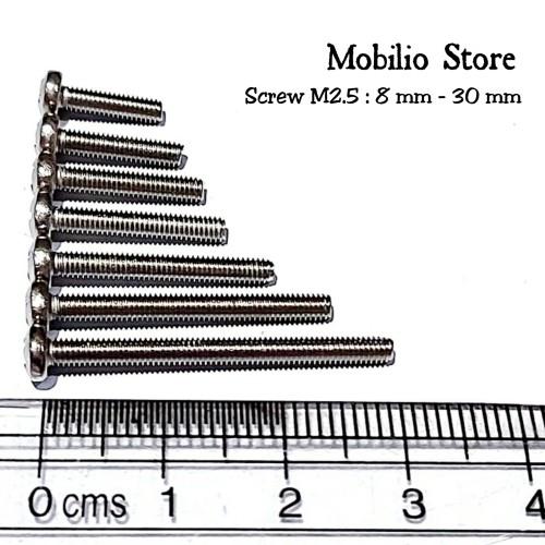 Foto Produk Baut M2.5 8 - 30 mm Stainless Steel 304 Bolts - 12 mm dari Mobilio Store