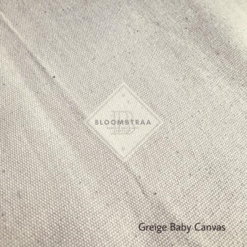 Foto Produk Kain kanvas grey Natural Bahan Baby canvas greige Kanvas Polos Katun dari Bloomstraa