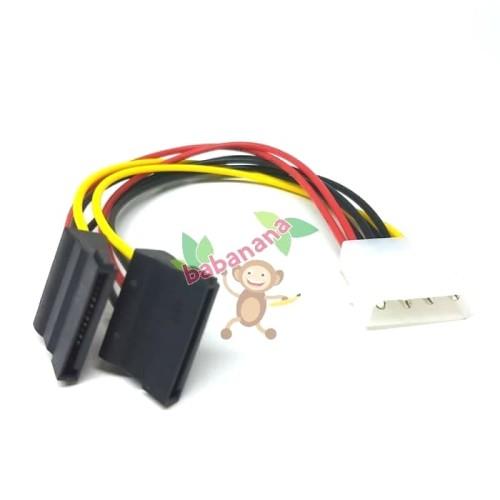Foto Produk Kabel Molex Female to Dual Sata Power Splitter HDD Cable Cabang dari Babanana Store