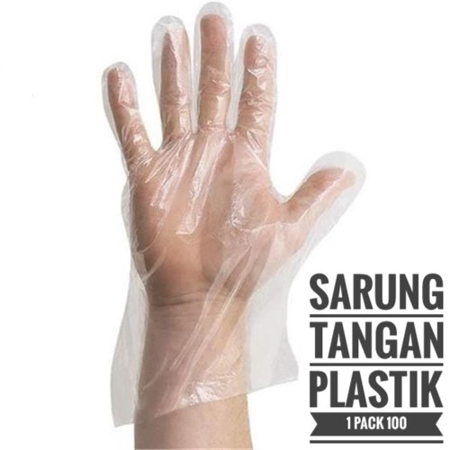 Foto Produk Sarung Tangan PLASTIK Food Grade Bagus Tebal Hand Gloves Disposable dari United Cleaning Official
