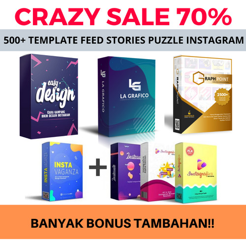 Jual Graphpoint Template Feed Ig Instagram Grid Story Puzzle Powerpoint Kota Surabaya Rumah Grosir Jersey Sby Tokopedia
