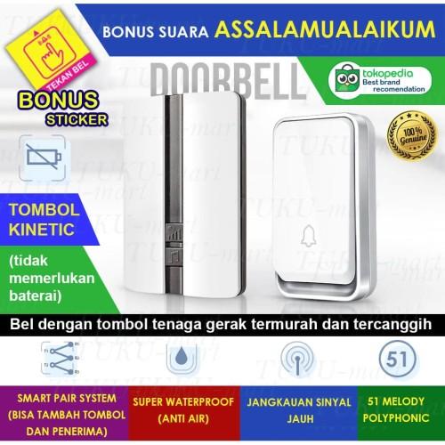 Foto Produk Bel Rumah Wireless Door Bell Waterproof Pintu dari Tuku-Mart