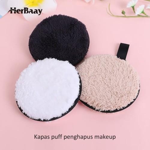 Herbaay Kapas Penghapus Makeup Remover Pad Reuseable - Hitam 2