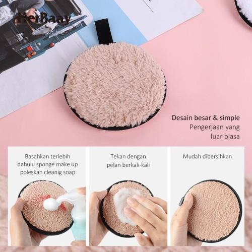 Herbaay Kapas Penghapus Makeup Remover Pad Reuseable - Hitam 4