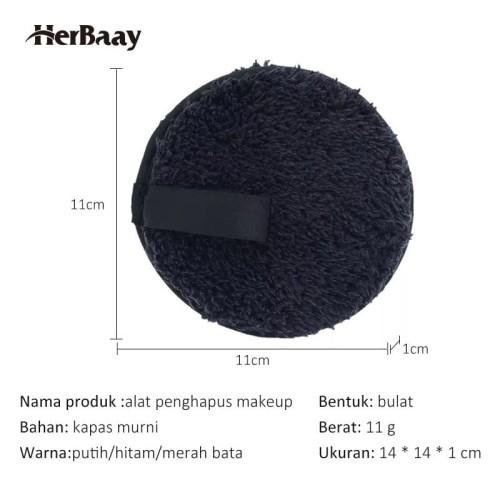 Herbaay Kapas Penghapus Makeup Remover Pad Reuseable - Hitam 6
