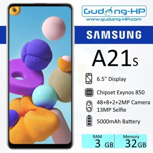 Foto Produk Samsung Galaxy A21s 3/32 GB Garansi Resmi SEIN - Biru dari Gudang-HP