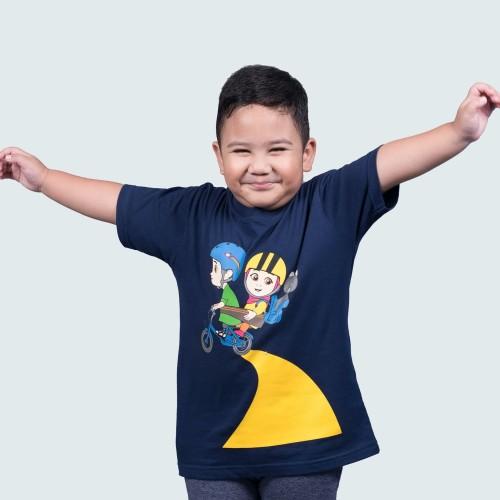 Foto Produk Nussa - Zaad Kaos Anak Navy - XS dari Nussa Official