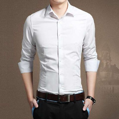 Foto Produk [kemeja basic putih OT] kemeja pria katun stretch putih - Putih, S dari FASHIONISTA's GROSIR
