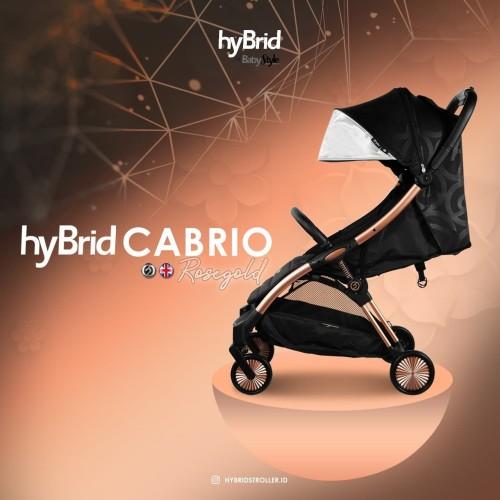 Foto Produk Hybrid Cabrio Ezyfold Stroller Black Rose Gold / Stroller Cabin Size dari bayibay