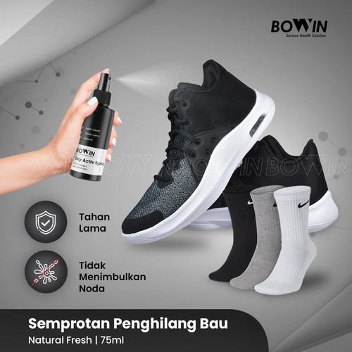 Foto Produk Bowin Activ Spray - Semprotan Penghilang Bau Kaki/Bau Sepatu Kaos kaki - Natural Fresh dari Bowin Indonesia