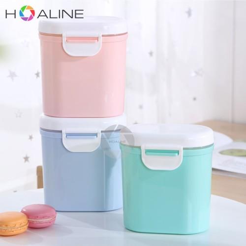 Foto Produk Tempat Susu Bubuk Bayi Portable Sealed Size L/Kotak Snack Biskuit 400g - Biru, L dari hoaline