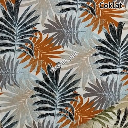 Foto Produk Kain Kanvas Motif Summer Palm Leaves - Cokelat dari canvas_me