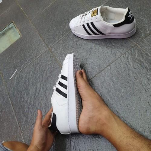 Foto Produk Sepatu adidas Superstar Big size putih list hitam size 46 47 48 dari Jersrey Online Store