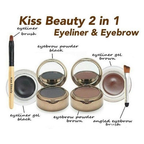 Foto Produk KISS BEAUTY 2IN1 EYEBROW & GEL EYELINER dari startled.id