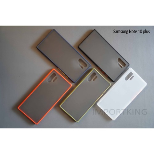 Foto Produk Samsung note 10 Plus PC SOFT CASE MATTE COLORED FROSTED dari importking