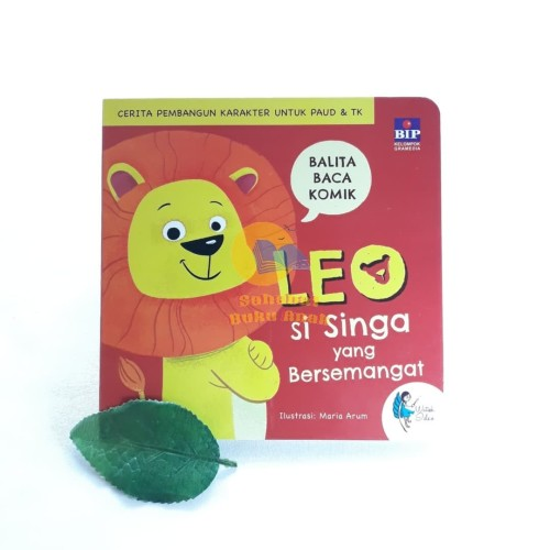 Foto Produk Buku Cerita Pembangun Karakter Anak Leo Singa Bersemangat Boardbook dari Sahabat Buku Anak
