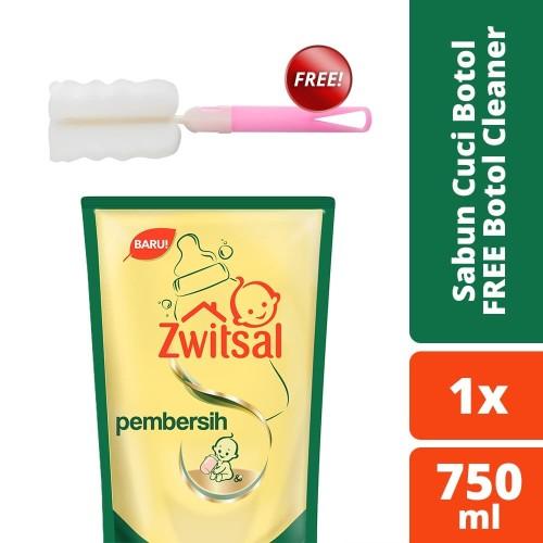 Foto Produk Zwitsal Sabun Cuci Botol Bayi 750ml free Sikat Botol dari Unilever Official Store