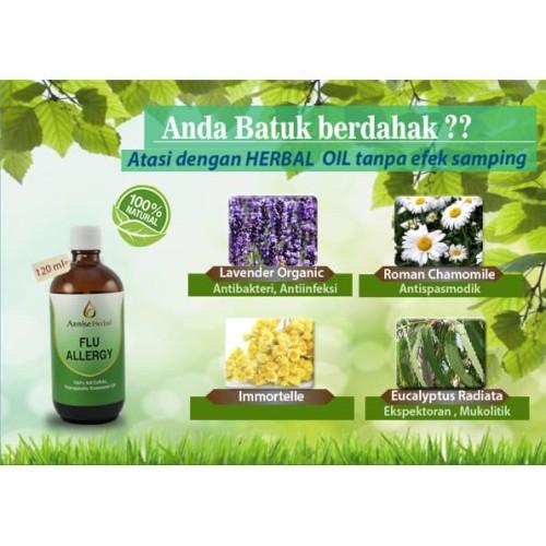 Foto Produk Obat Batuk dan Pilek, Obat Herbal Flu Allergy Oil for Dewasa 120ml dari anniseherbal