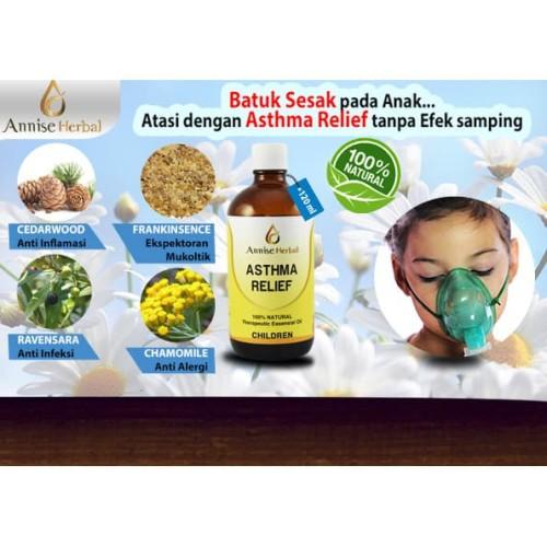 Foto Produk Obat Herbal Asma,Mengurangi Radang, Asthma Relief Anak 120ml dari anniseherbal