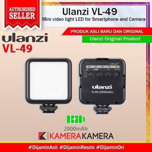 Foto Produk Ulanzi VL-49 VL 49 vl49 Lampu LED Mini Video Light RECHARGEABLE dari kamerakamera