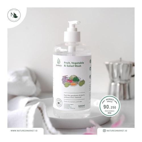 Foto Produk Pureco Liquid Fruit Veggie and Salad Wash 500ml dari naturesmarket