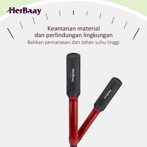 Herbaay Catok rambut Lurus temperatur suhu ionic 530 - Merah 6