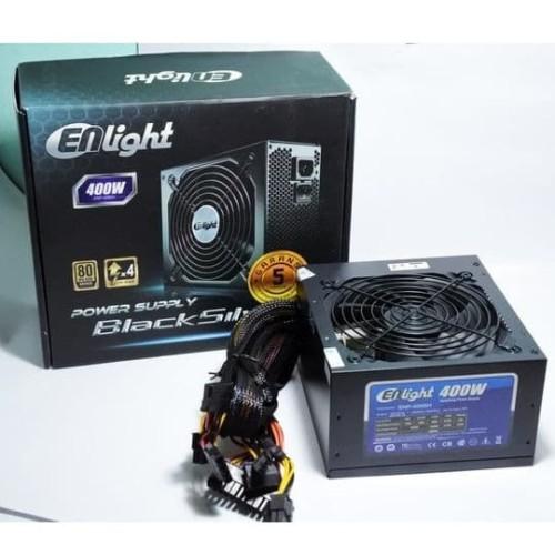 Foto Produk Power Supply Enlight 400W 80+ Black Silver dari toko expert komputer