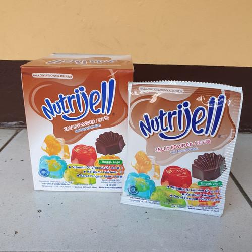 Foto Produk [satuan] NUTRIJELL Jelly Powder Rasa COKLAT / CHOCOLATE 30 gram dari Aimee Bag & Plush Toys