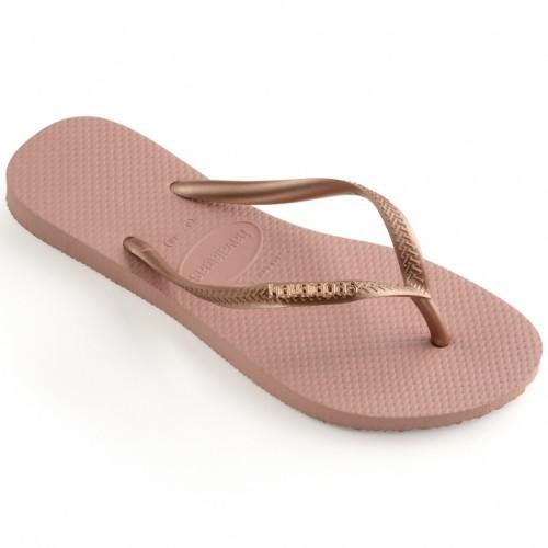 Foto Produk Havaianas Slim Logo Metallic 3655-Rose Nude - Sandal Wanita - Merah Muda, 33-34 dari Havaianas Official Shop