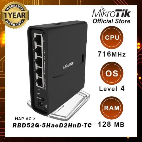 Foto Produk RBD52G-5HacD2HnD-TC (hAP AC2) dari MikroTik Official