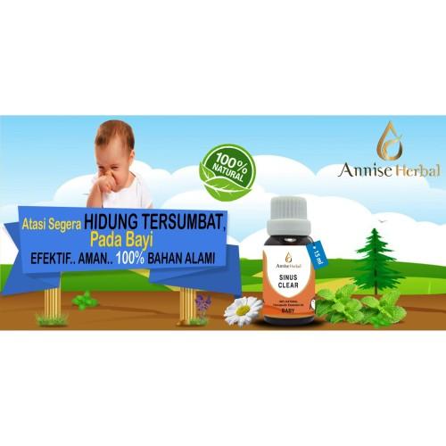 Foto Produk Obat pilek, flu, Obat herbal Flu, Pilek, Sinus Clear Oil for Bayi 15ml dari anniseherbal