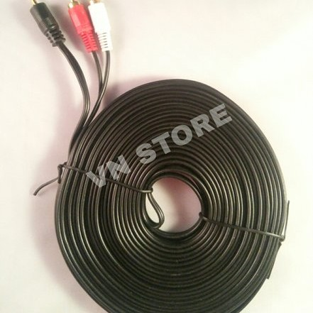 Foto Produk KABEL AUDIO TO RCA 2 GOLD PLATED 15M (1-2) / JACK 3.5 - 2 RCA 15 dari abdulwulandarishop