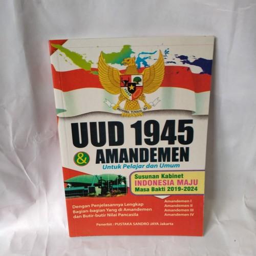 Foto Produk UUD 1945 & AMANDEMEN 15 x22cm(besar) dari TOKO BUKU MARWAH MEDAN