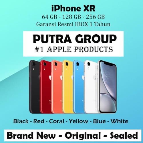 Foto Produk (IBOX) iPhone XR 64GB 128GB 256GB Garansi Resmi TAM 1 Tahun 64 128 256 - 64 gb, White dari Putra Group