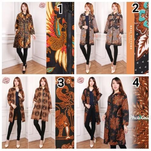 Foto Produk Atasan Long Tunik Jovita Batik Wanita - No 1, M dari holy Beauty