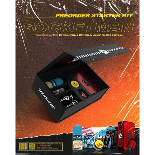 Foto Produk RocketMan MOD Starter Kit ( MOD + RDA + BATTERY ) Rocket Man - Merah dari Govaping
