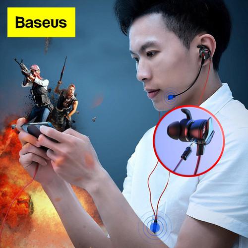Foto Produk Handsfree Baseus GAMO H15 In Ear 3.5 Wired Earphone Headset Gaming - Hitam dari Gadget Factory