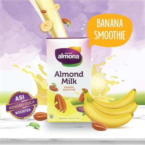 Foto Produk ALMONA Almond Milk Powder ASI BOOSTER with Daun Katuk - Dairy Free - BANANA SMOOTHIE dari Carson Baby Shop