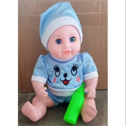 Foto Produk LOVELY BABY Kantong - Mainan Anak Boneka Bayi Suara Bicara dari ciustoys