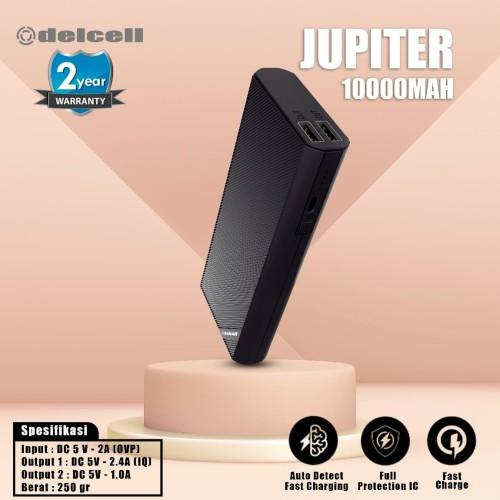 Foto Produk New Delcell JUPITER Powerbank 10000mAh Real Capacity Fast Charging - Putih dari DelCell