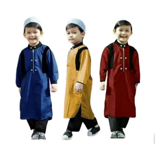 Foto Produk Stelan Koko anak ARKEN, Stelan Jubah Muslim - Maron, XS dari Mamayoo