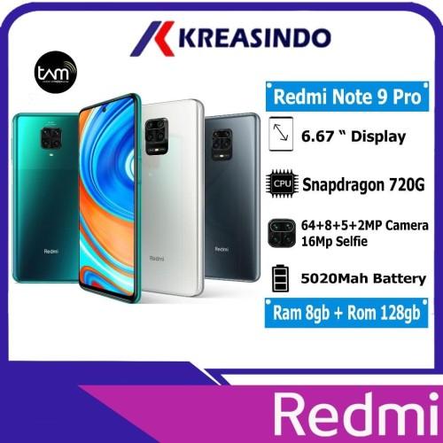 Foto Produk Xiaomi Redmi Note 9 Pro 8/128 Ram 8gb Rom 128gb Garansi Resmi TAM - Putih dari Kreasindo Online