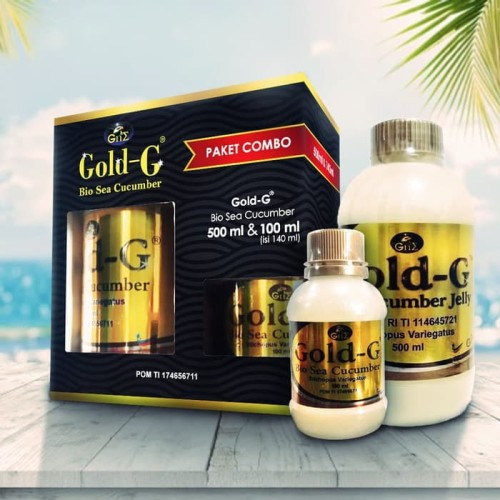 Foto Produk Paket Combo Jelly Gamat Gold G 500ml Free 100ml Original Asli dari Suplayer Herbal