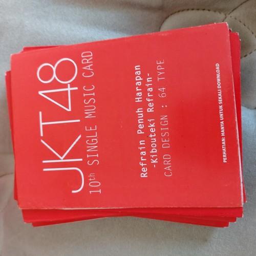 Foto Produk Music Card JKT48 Edisi 10 dan 11 Segel dari VinyOshi Store