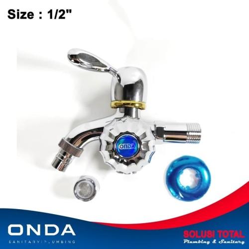 """Foto Produk Keran Kran Shower Double / Dobel Mixer Cabang ONDA K 406 CTG 1/2"""" dari Solusi total"""
