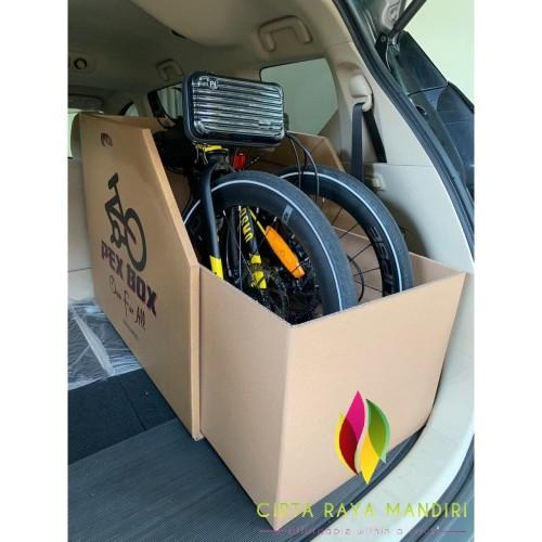 Foto Produk Holding Box Sepeda Lipat - Tempat Penyimpanan Sepeda Lipat Universal - Cokelat dari Cipta Raya Mandiri
