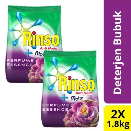 Foto Produk Rinso Molto Deterjen Bubuk Perfume Essence 1.8Kg Twin Pack dari Unilever Official Store